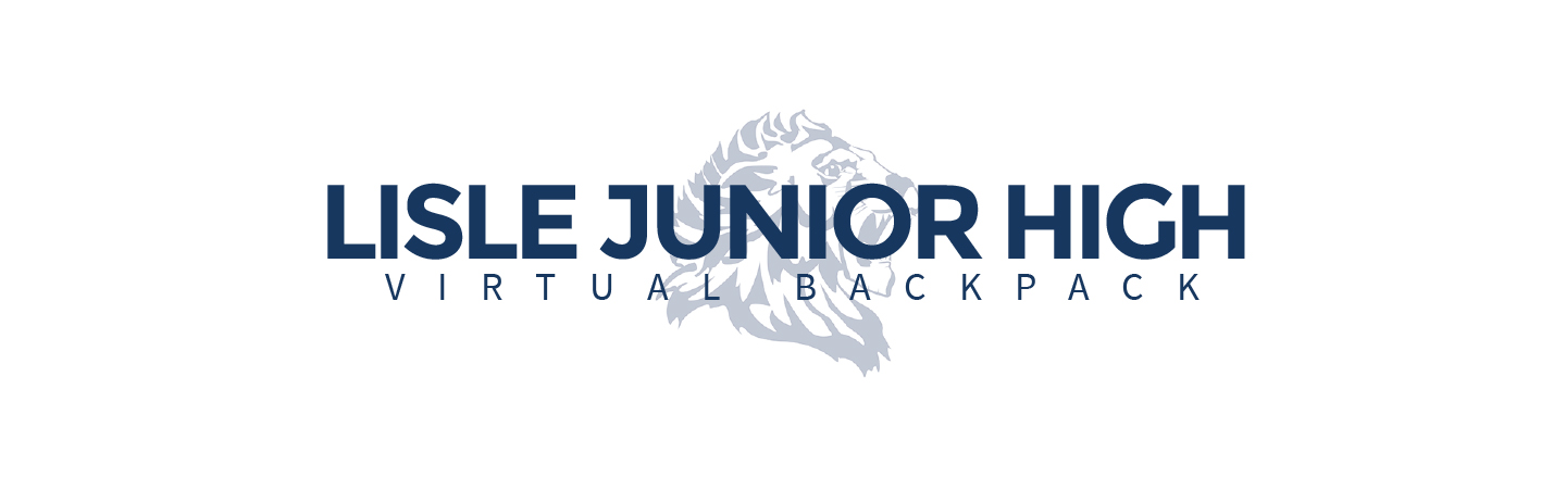 LJHS Virtual Backpack header with Lion logo