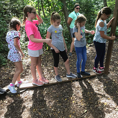 Schiesher students participate in teambuilding