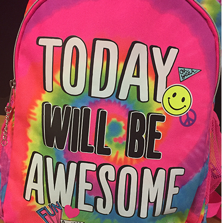 Today will be awesome backpack